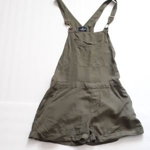 AE Army Green Lightweight Overall Shorts Overall S